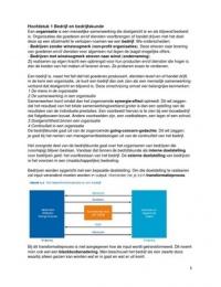 SAMENVATTING: Bedrijfskunde Integraal H1 - H10
