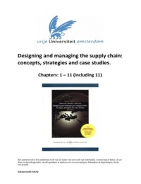 Study notes for Transport and Supply Chain Management at VU
