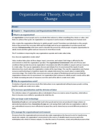Organizational Theory Design And Change Global Edition Notes Stuvia