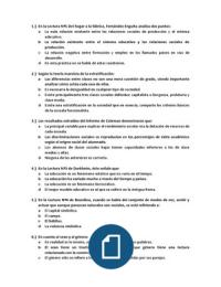 Examen: EXAMEN TIPO TEST RESUELTO SOCIOLOGÍA 1