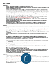 ESSAY: The Right to Silence - Essay Plan