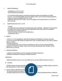 ZUSAMMENFASSUNG: Verwaltungsrecht Allgemeiner Teil - Grundzüge