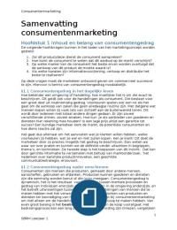 SAMENVATTING: Samenvatting consumentengedrag h1 t/m 7