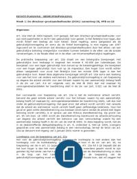 HANDLEIDING: Estate Planning: Bedrijfsopvolging - Uitwerkingen van alle bijeenkomsten