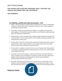 p5 profit and loss Interpret the contents of a trading and profit and loss account and balance sheet for a selected company, explaining how accounting ratios can be assignment p5.