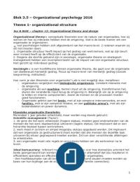 SAMENVATTING: Samenvatting Organizational Psychology Blok 3.5 EUR