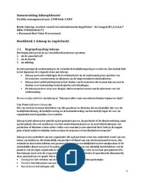 SAMENVATTING: Samenvatting Inkooptheorie blok 3 P&T (FIB)