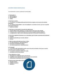 Examen: EXAMEN ENDOCRINOLOGIA