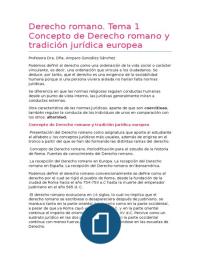 APUNTES: Apuntes Derecho Romano
