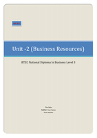 ESSAY: BTEC Business Unit 2, Busness Resources M4 D3 (Analyse the reasons why costs need to be controlled to budget) (Evaluate the problems they have identified from unmonitored costs and budgets)