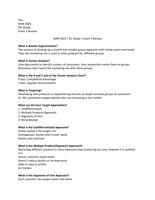 Exam: MAR 3023 | DR. BRADY | EXAM 2 GUIDE