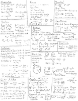 Mechanics Final Exam Cheat Sheet - Physics 140 - Stuvia