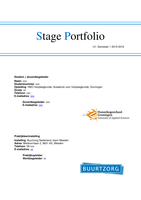 OVERIG: Portfolio U1 stage Buurtzorg