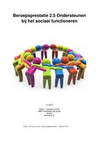 SCRIPTIE: Beroepsprestatie 2.5 Ondersteunen bij het sociaal functioneren