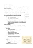 Management Control Systems Sammanfattning