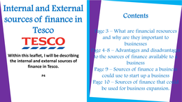 external and internal sources of information in tesco Businesses need information to be successful, and that information can come from a variety of sources, both internal and external understanding the various sources of information and how to access them can help companies and their leaders stay on top of emerging trends and environmental factors that can affect their.