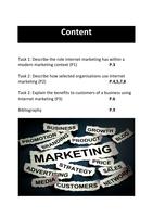 ESSAY: BTEC Unit 12 Internet Marketing P1, P2, P3