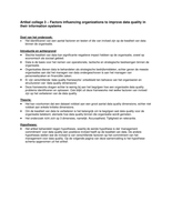 SAMENVATTING: Samenvatting van het artikel Factors influencing organizations to improve data quality in their information systems (Tee, Doyle, Rohde, 2007)