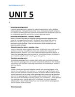 ESSAY: BTEC LEVEL 3 UNIT 5 Managing Networks