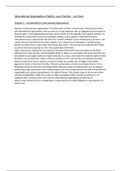 SAMENVATTING: International Organizations; Politics, Law, Practice - Ian Hurd