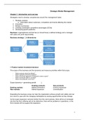 SAMENVATTING: Strategic Market Management