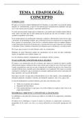 APUNTES: EDAFOLOGÍA: CONCEPTO (Tema 1)