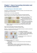 SAMENVATTING: Financial Accounting summary