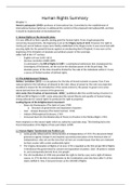 SAMENVATTING: Human Rights summary on the book 'International Human Rights Law'