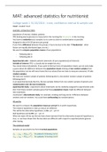SAMENVATTING: MAT-15403 Statistics II samenvatting