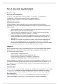 SAMENVATTING: MCB-10806 Sociale Psychologie samenvatting