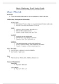 SUMMARY: MAR 3023 Basic Marketing Comprehensive Final Exam Study Guide