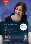 OTHER: ACCA F4, Corporate and Business Law, PR Kit (PDF) 2017 BPP