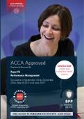OTHER: ACCA F5, Performance Management, PR Kit (PDF) 2017 BPP