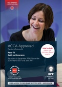 OTHER: ACCA F8, Audit and Assurance, PR Kit (PDF) 2017 BPP