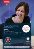 OTHER: ACCA F9, Financial Management, PR Kit (PDF) 2017 BPP