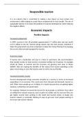ESSAY: P1 - Responsible Tourism - Unit 12 - Positive and Negative Impacts