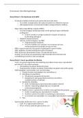 SAMENVATTING: Evolutionaire Ontwikkelingsbiologie Deel 1