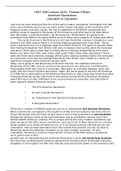 LECTURE NOTES: HIST 3383 Lecture 3A