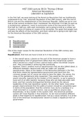 LECTURE NOTES: HIST 3383 Lecture 3B