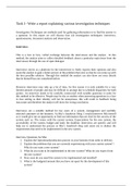 Unit 11 P4 Investigation Techniques Unit 11 Systems Analysis And Design Stuvia