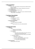 Study notes for PSY1100 at Columbus State Community College