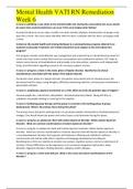 Mental Health Vati Rn Remediation Week 6 Questions With Answers Graded 100 2020 Mental Health Vati Rn Remediation Week 6 Stuvia