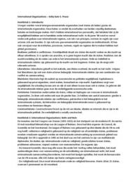 SAMENVATTING: International Organizations door Kelly-Kate S. Pease