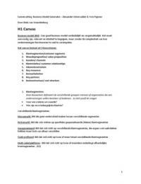 SAMENVATTING: SV Boek Business Model Generatie , alex osterwalder & yves pigneur